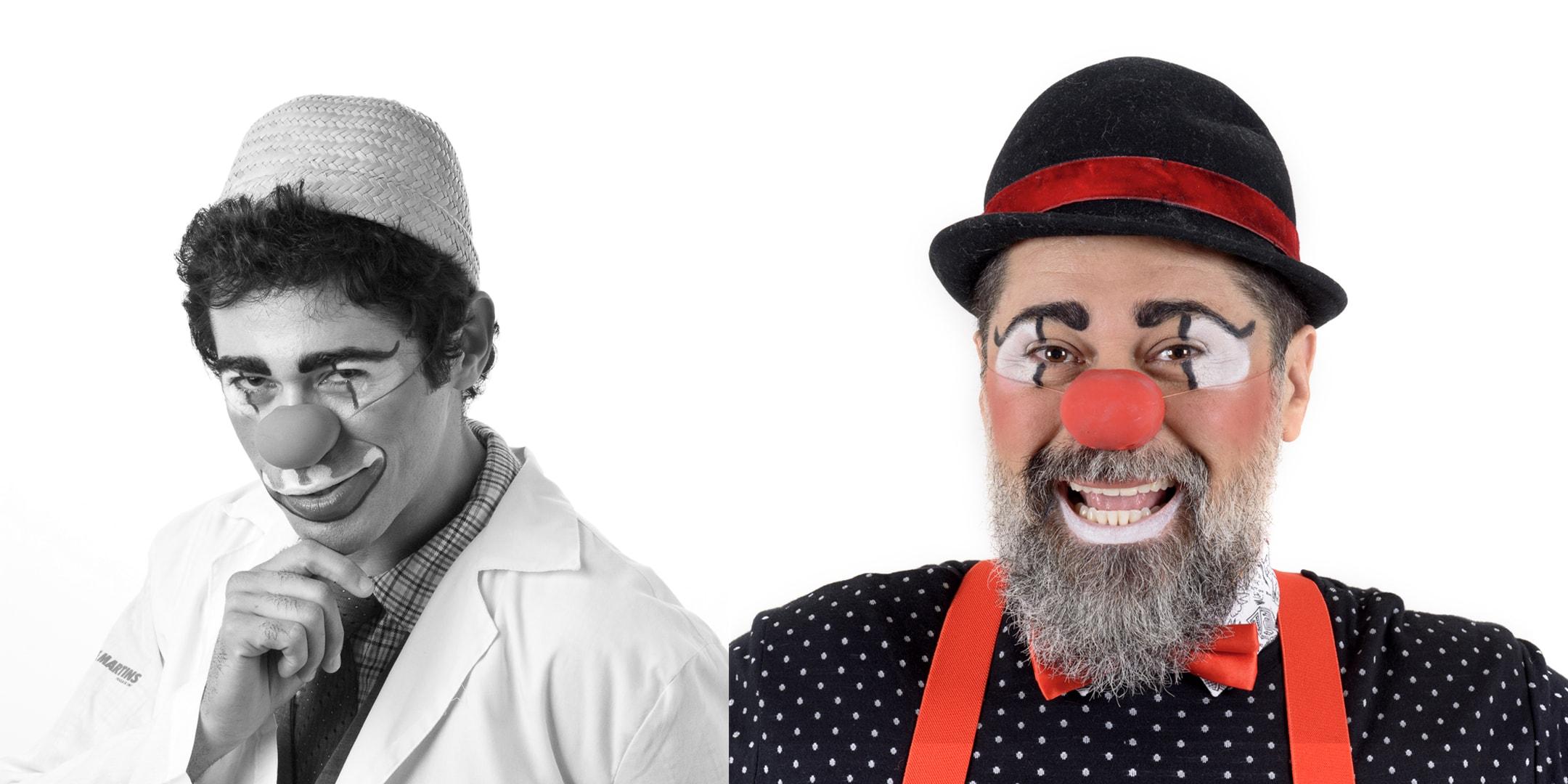 Antes e depois dos palhaços em 3×4