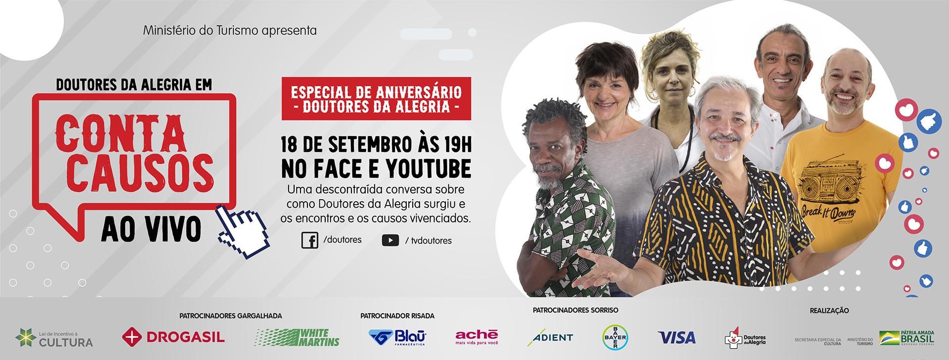Conta Causos ao vivo, nesta sexta às 19h, celebra aniversário da organização
